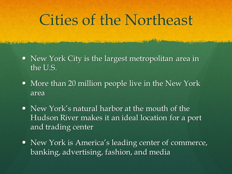 Cities of the Northeast