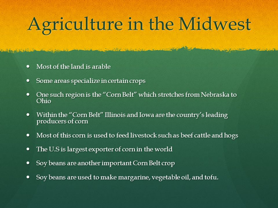 Agriculture in the Midwest