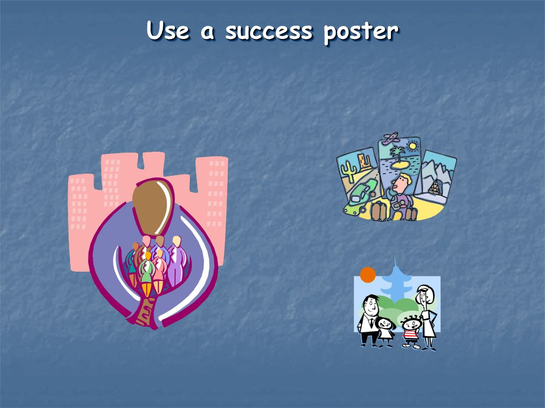 Use a success poster