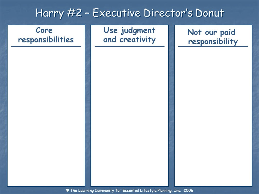 Harry #2 – Executive Director's Donut