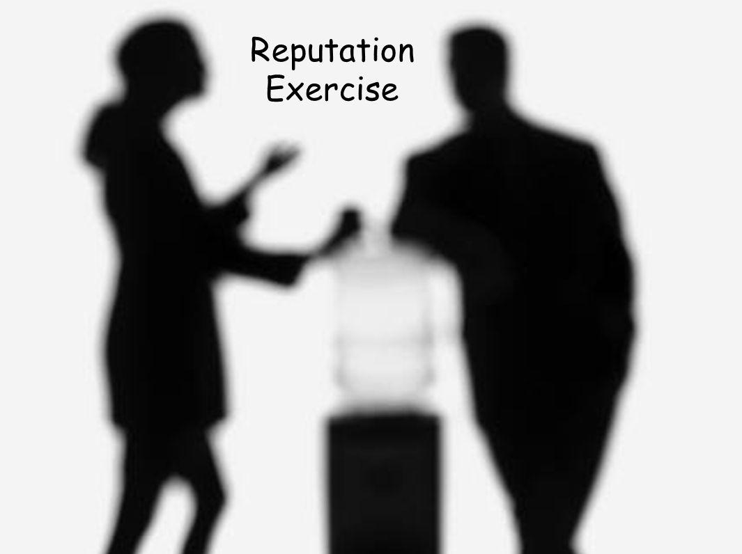 Reputation Exercise
