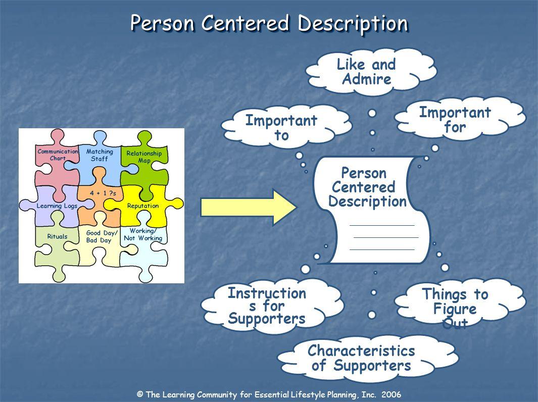 Person Centered Description