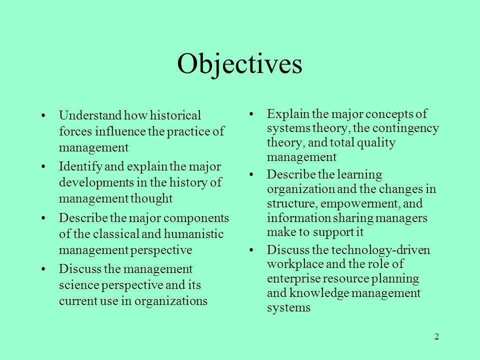 factors which influenced the evolution of management thought Describe the major influences on the development of management thought 2   a review of the environmental factors that influence management thinking,.