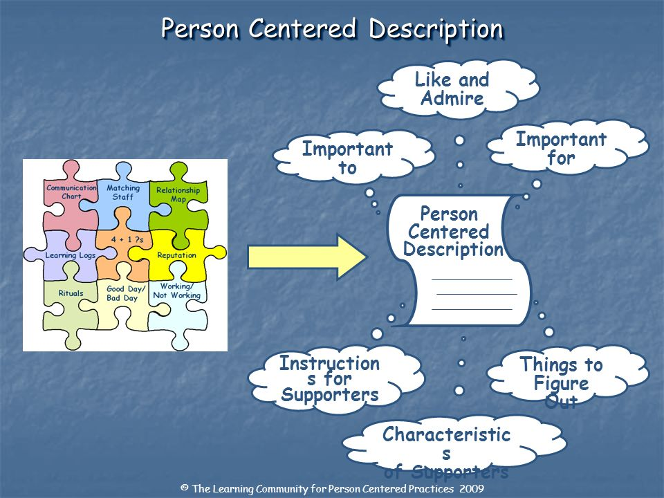 Person Centered Description