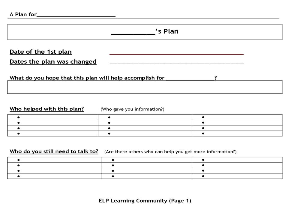 Lets look at a sample plan.