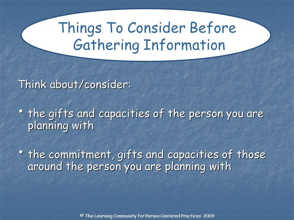 Things To Consider Before Gathering Information