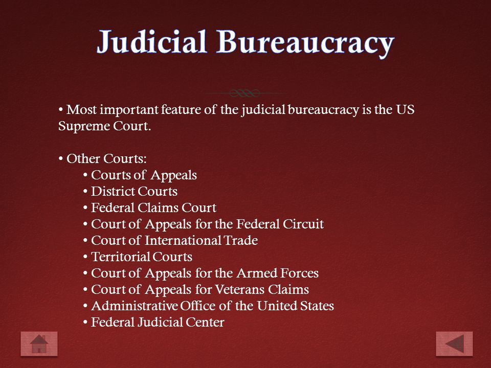 Defining a bureaucracy the federal bureaucracy ppt video online download - Us courts administrative office ...