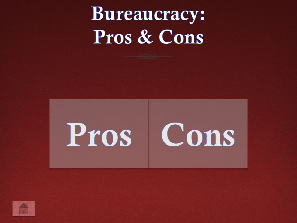 Advantages And Disadvantages Of Bureaucracy