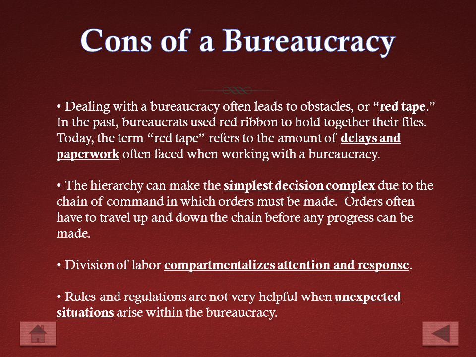 importance of bureaucracy in a working — regarding the importance of indianising civil services while indian bureaucracy is called babudom, as in the rule of babus, especially in indian media ministry of.