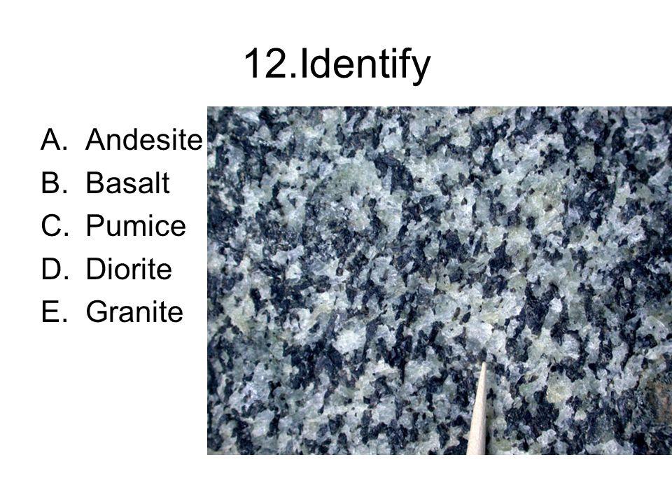 1 Identify This Rock Gabbro Quartz Biotite Granite