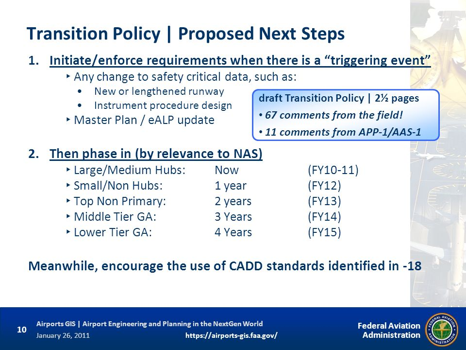 Transition Policy | Proposed Next Steps