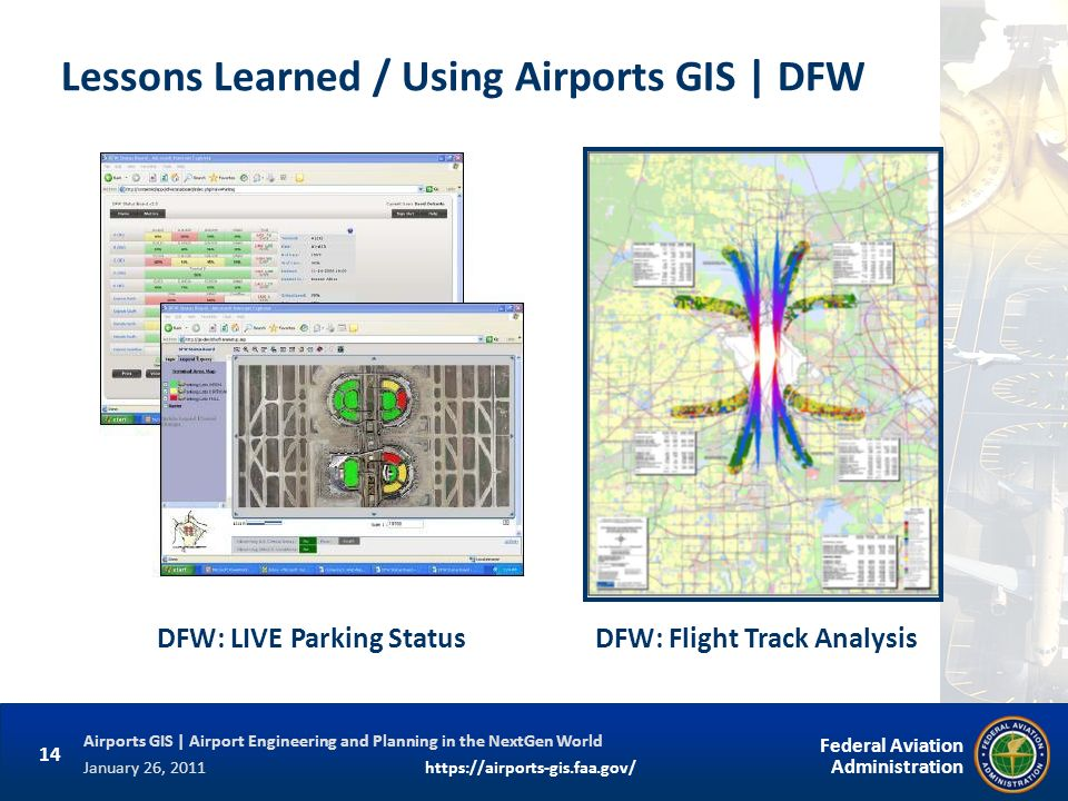 Lessons Learned / Using Airports GIS | DFW