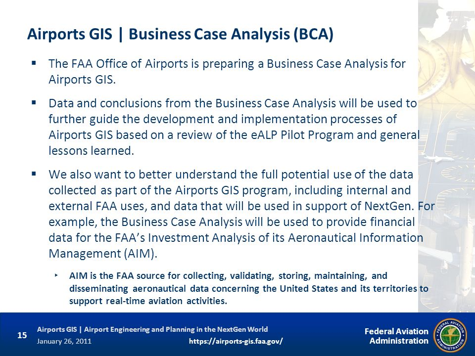 Airports GIS | Business Case Analysis (BCA)