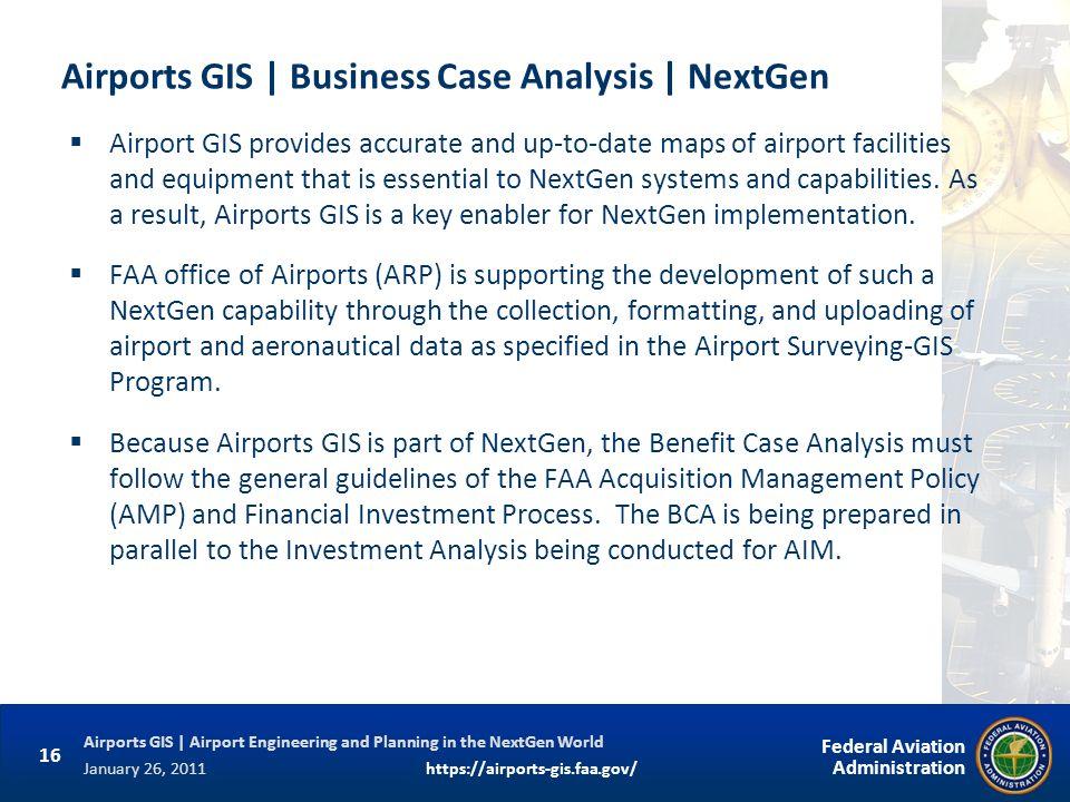 Airports GIS | Business Case Analysis | NextGen