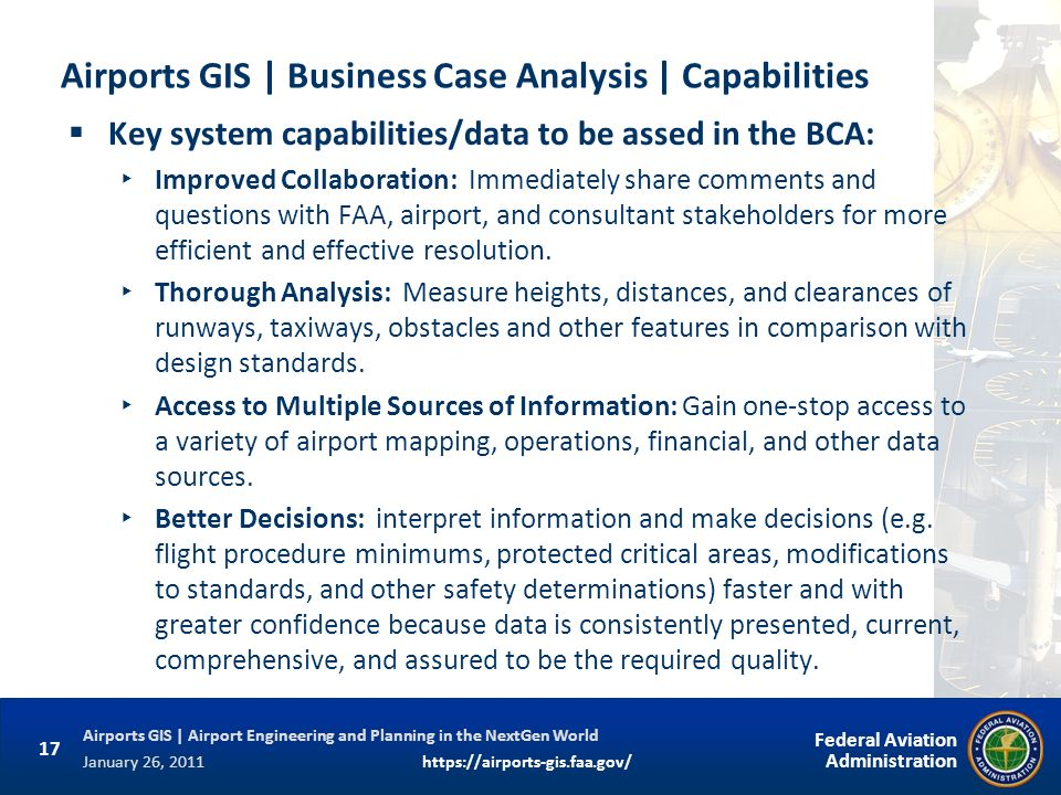 Airports GIS | Business Case Analysis | Capabilities