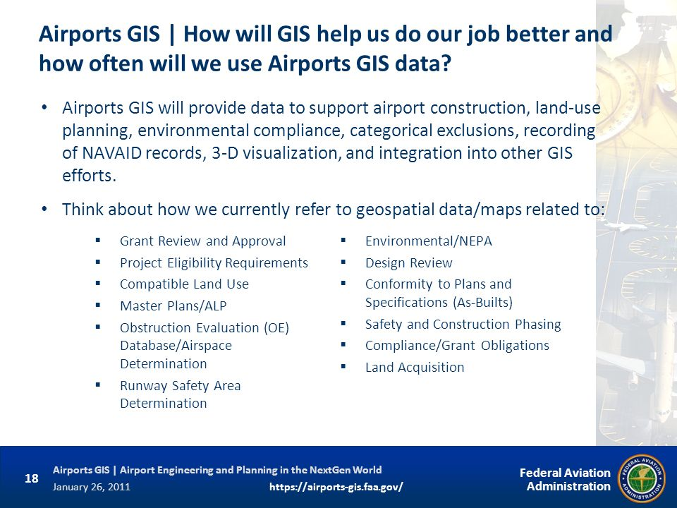 Airports GIS | How will GIS help us do our job better and how often will we use Airports GIS data