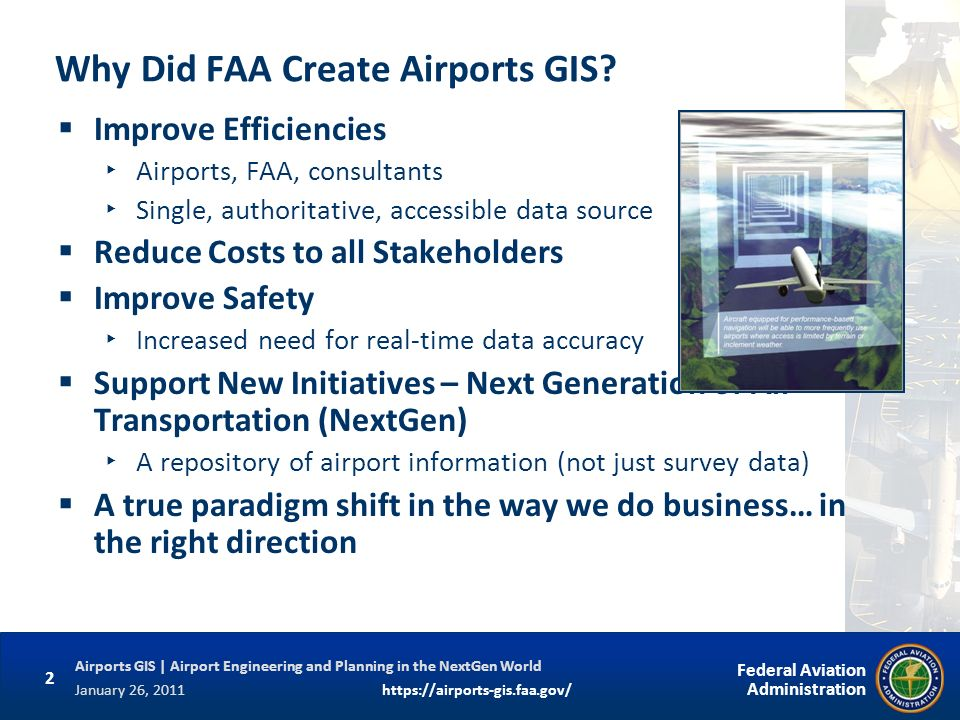 Why Did FAA Create Airports GIS