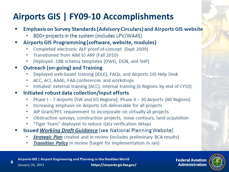 Airports GIS | FY09-10 Accomplishments