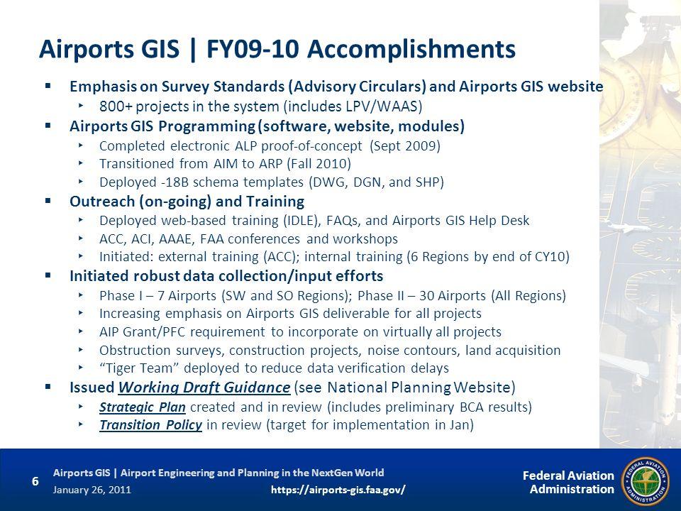 Airports GIS | FY09-10 Accomplishments