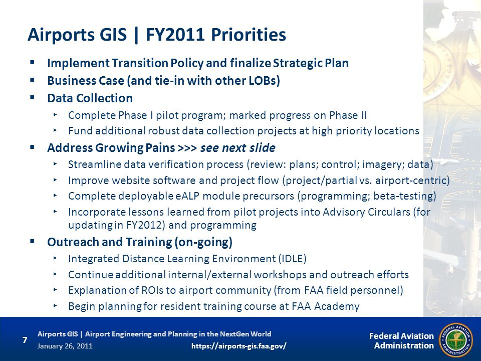 Airports GIS | FY2011 Priorities