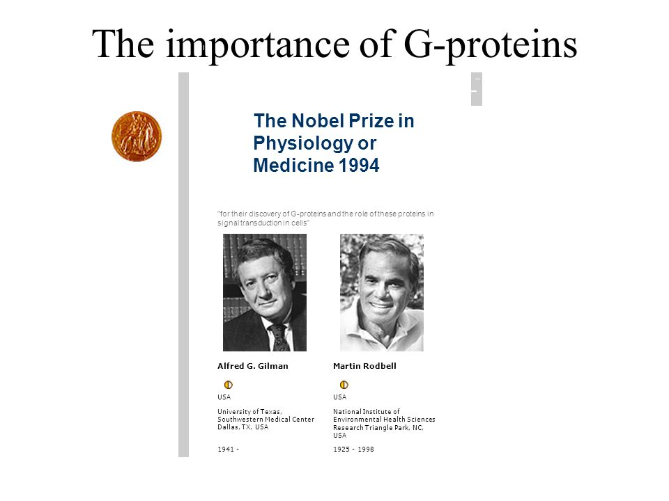 The importance of G-proteins
