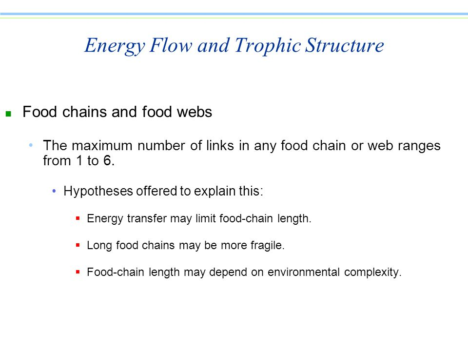 Energy Flow and Trophic Structure