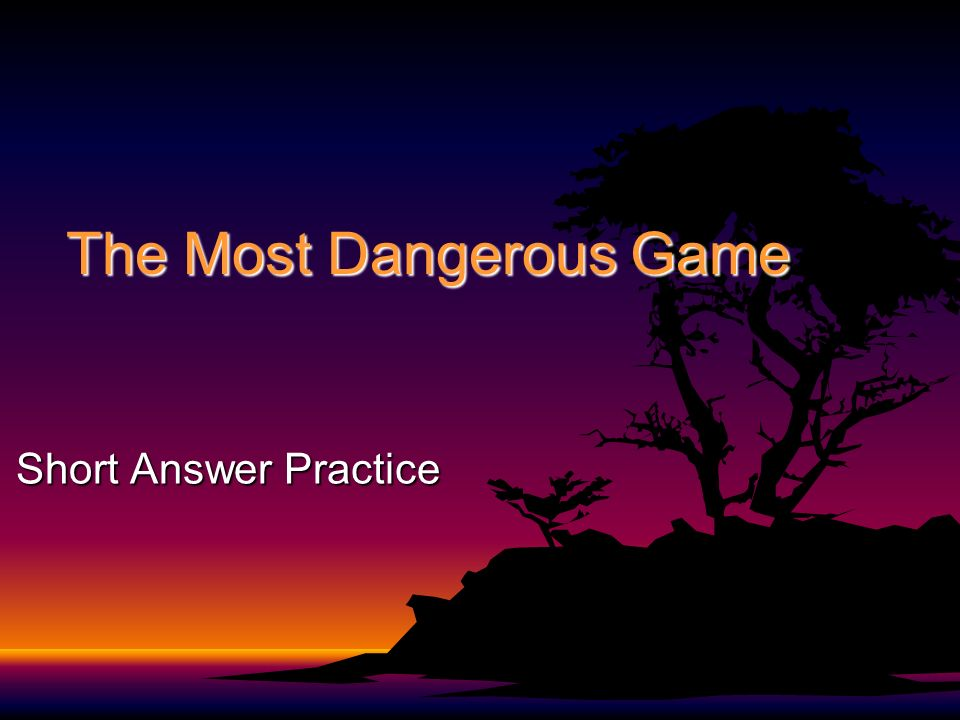 5 paragraph essay on the story the most dangerous game