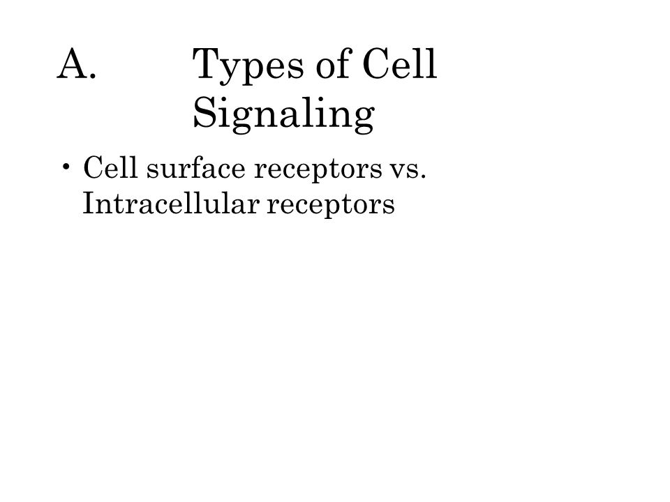 A. Types of Cell Signaling