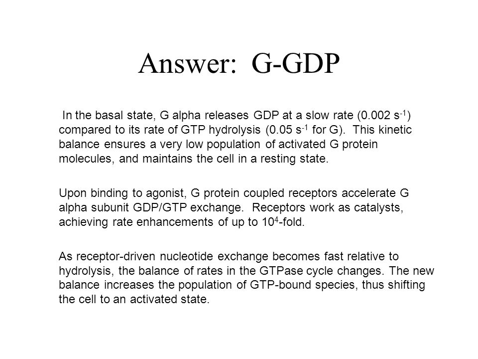 Answer: G-GDP