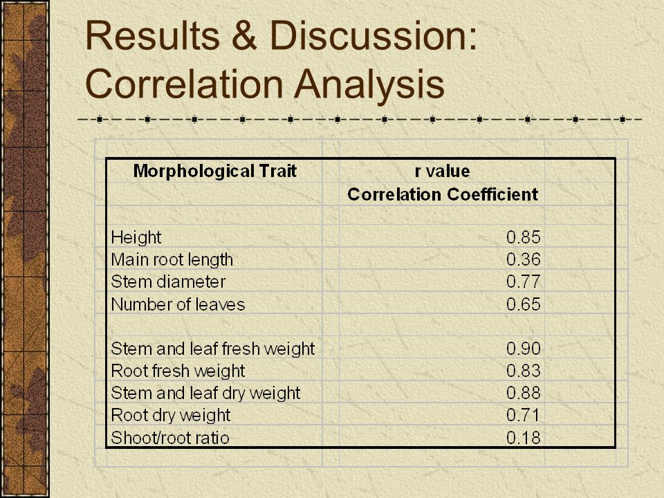 Results & Discussion: Correlation Analysis