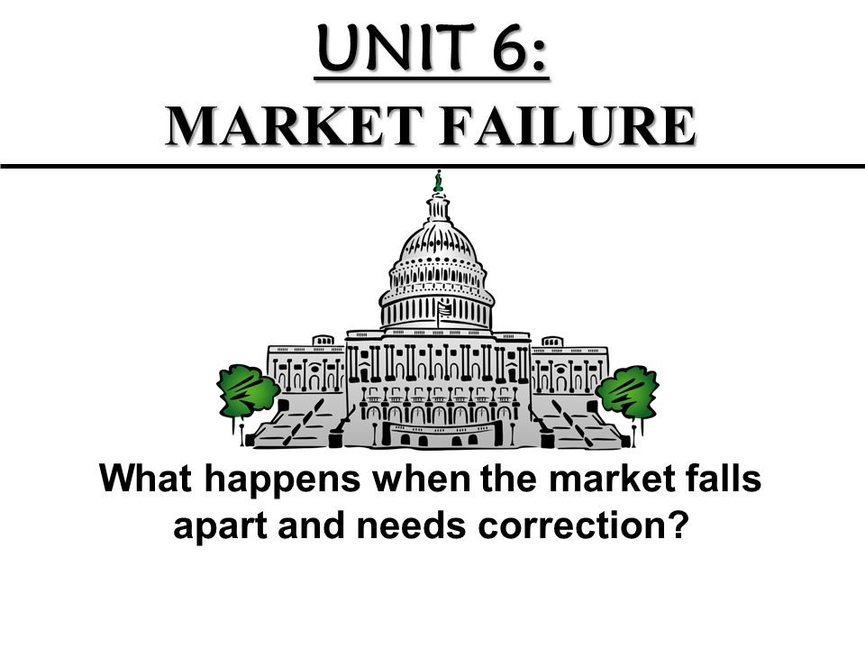 What happens when the market falls apart and needs correction
