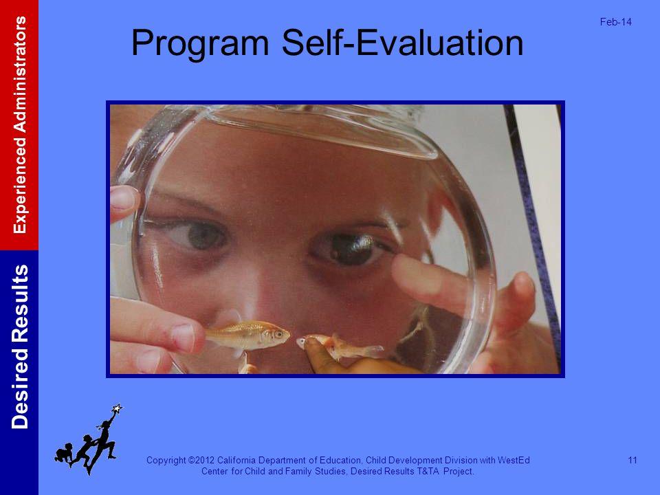 Program Self-Evaluation