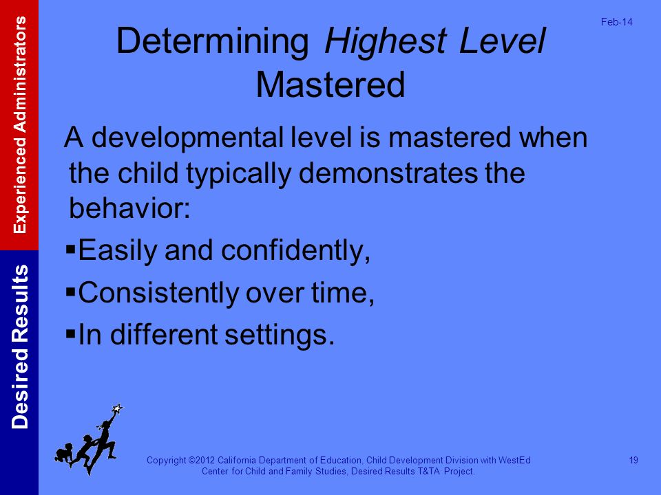 Determining Highest Level Mastered