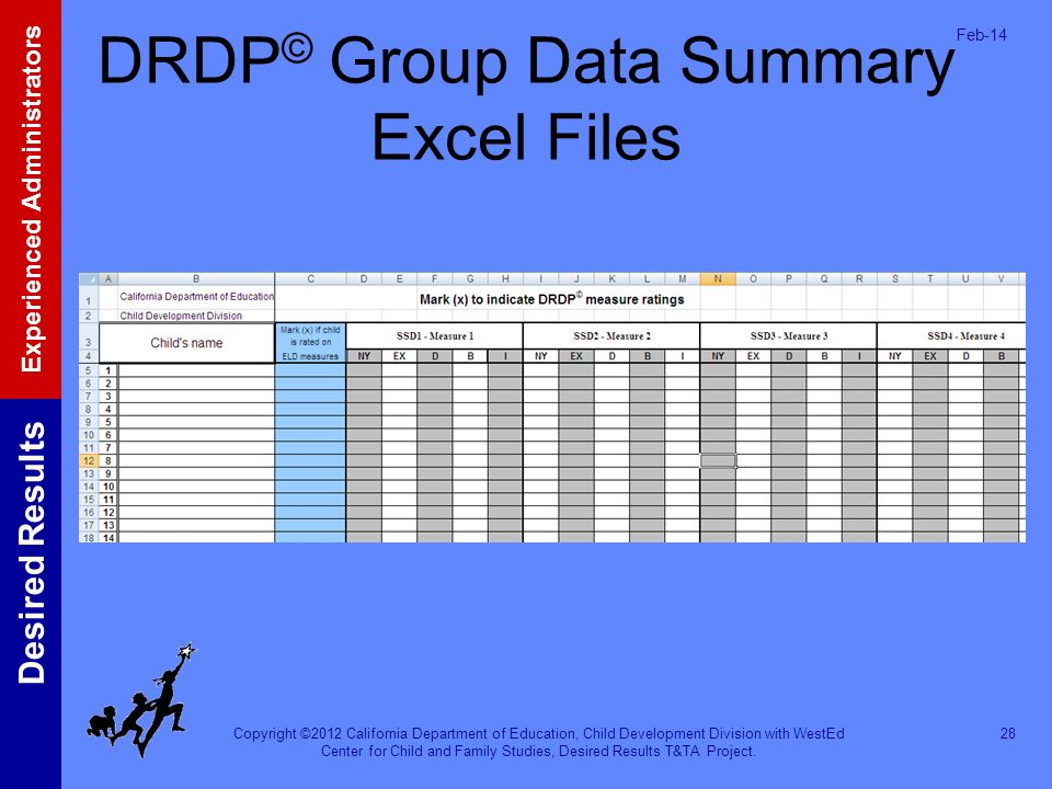 DRDP© Group Data Summary Excel Files