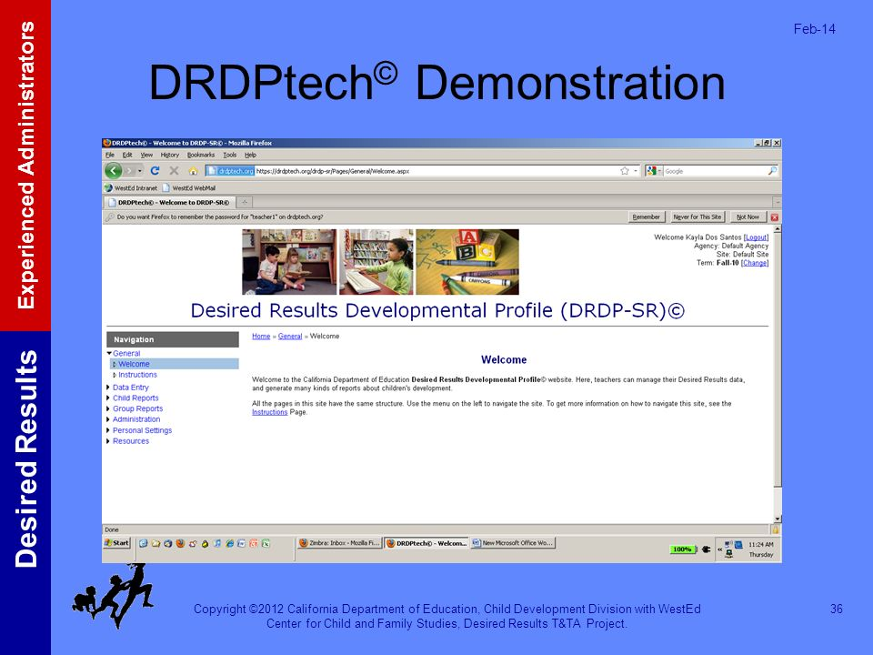 DRDPtech© Demonstration