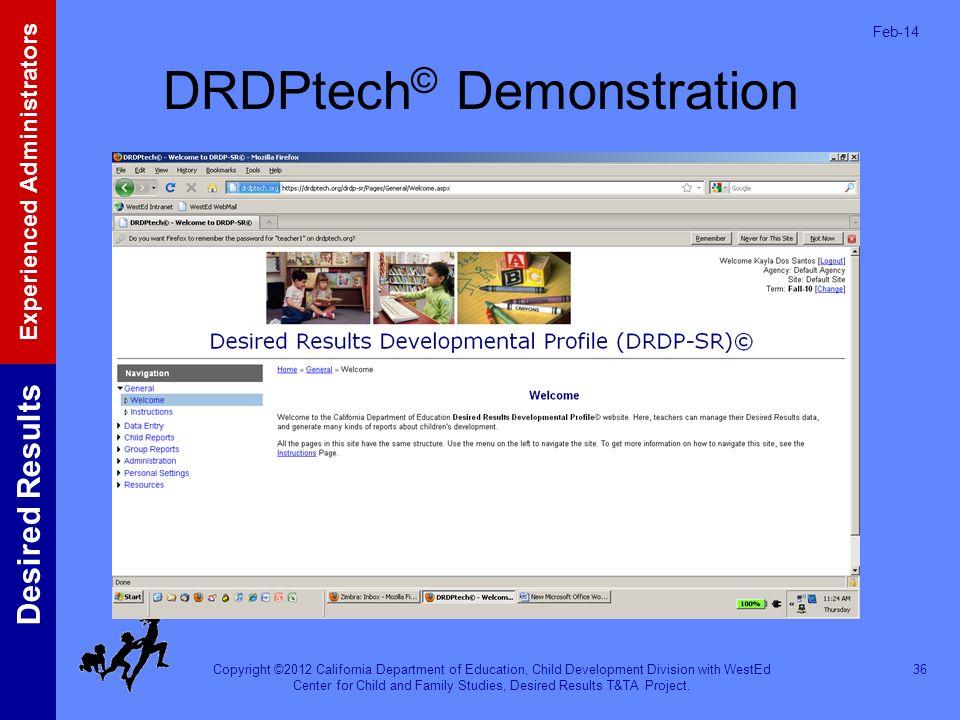 DRDPtech© Demonstration