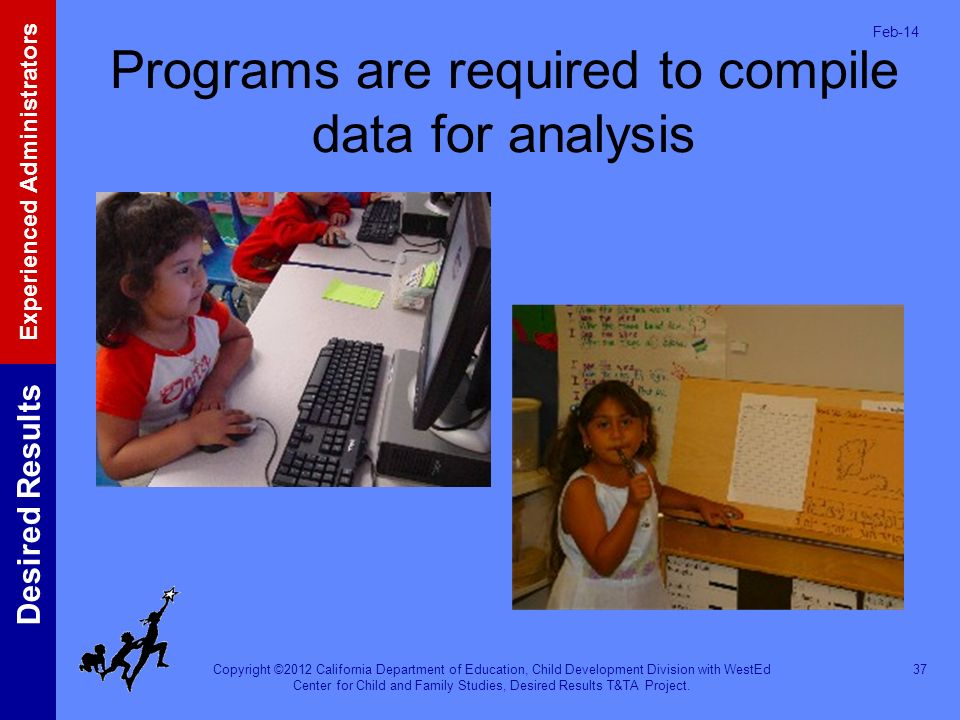 Programs are required to compile data for analysis