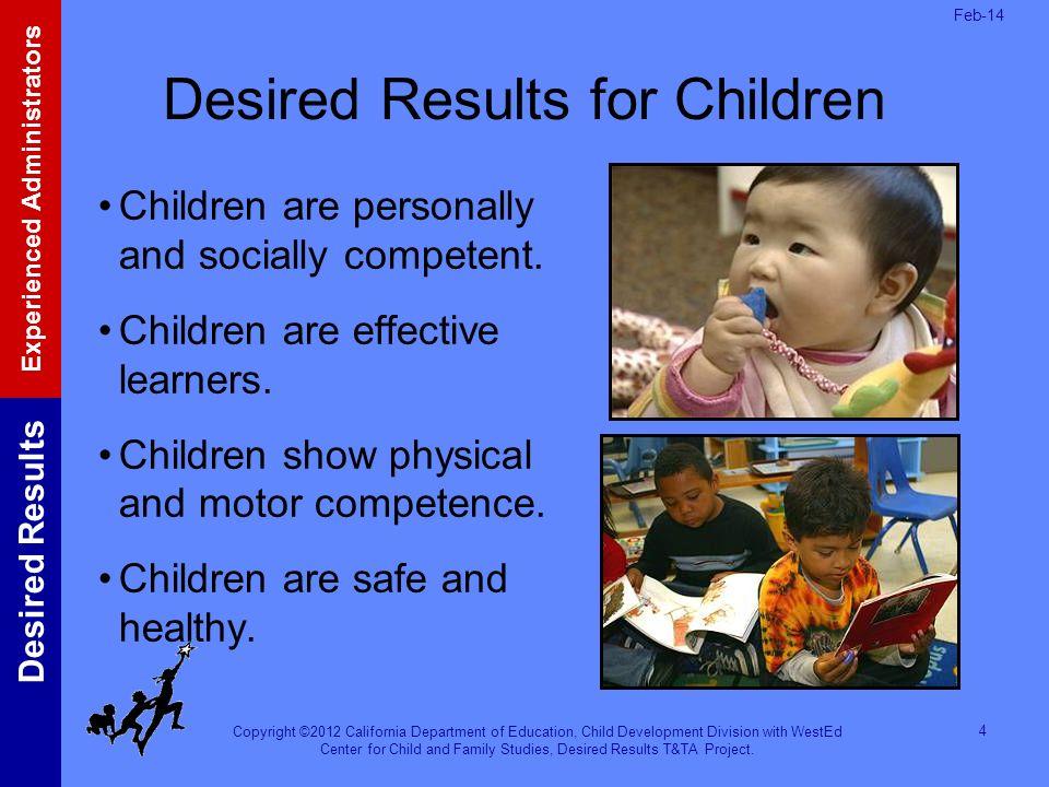 Desired Results for Children