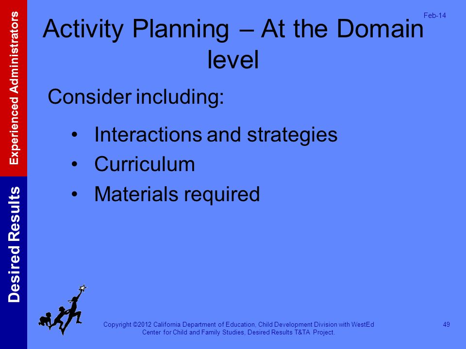 Activity Planning – At the Domain level