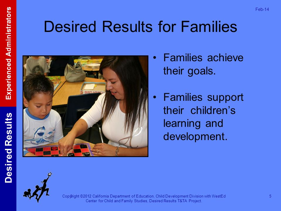 Desired Results for Families