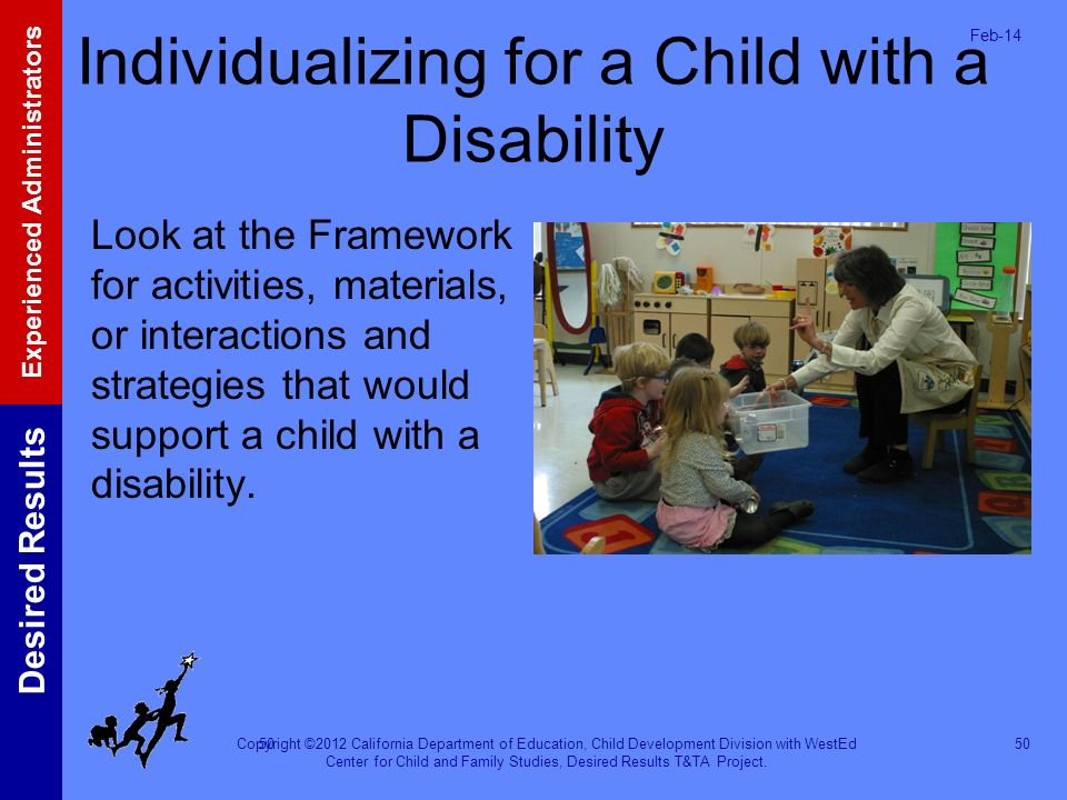 Individualizing for a Child with a Disability