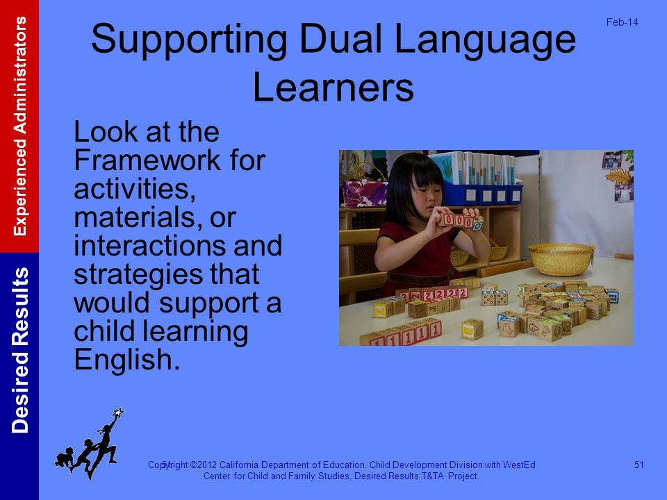 Supporting Dual Language Learners
