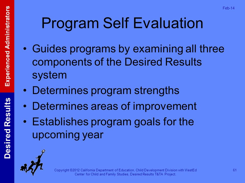 Program Self Evaluation