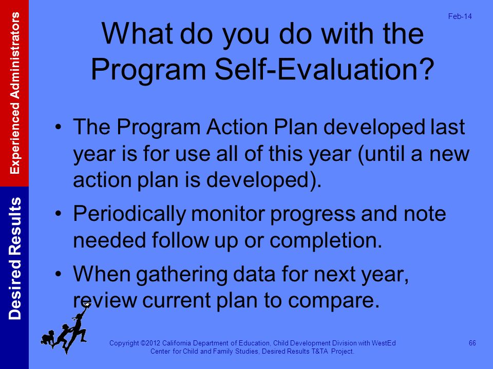 What do you do with the Program Self-Evaluation