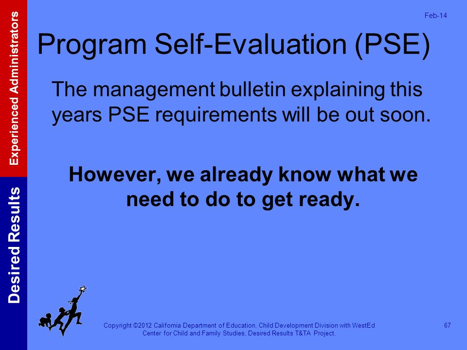 Program Self-Evaluation (PSE)