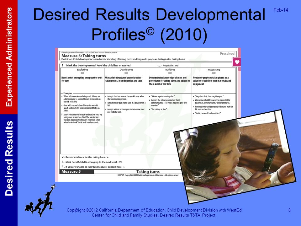 Desired Results Developmental Profiles© (2010)