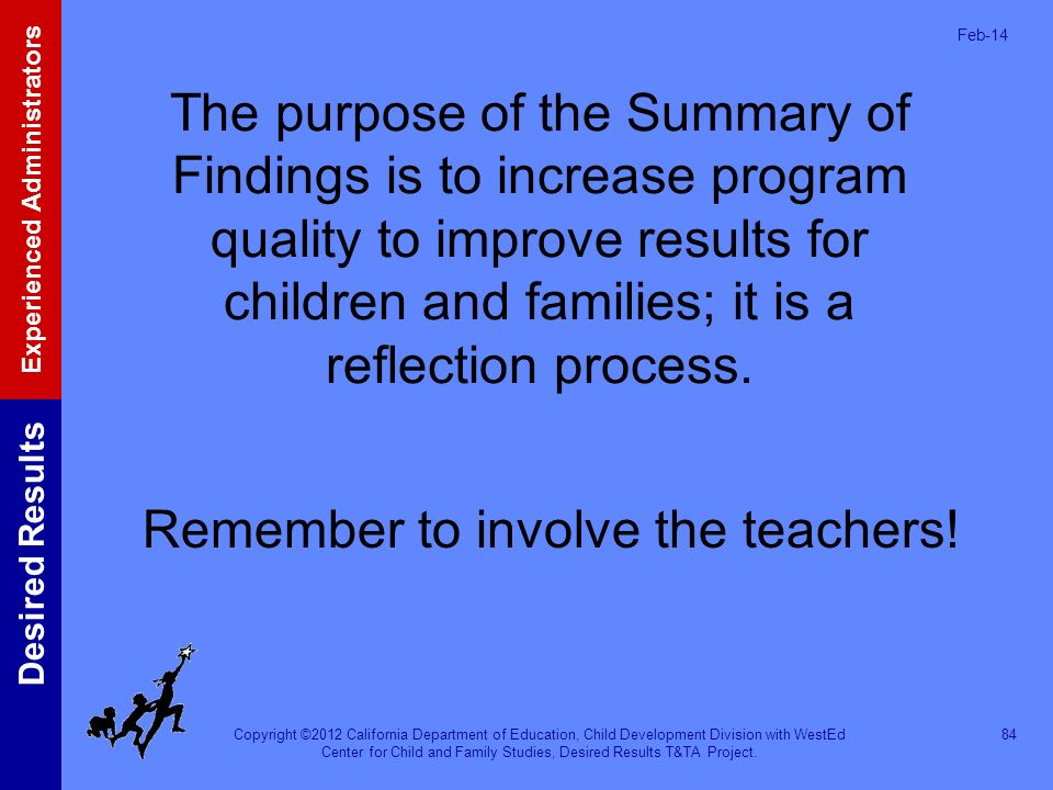 Remember to involve the teachers!