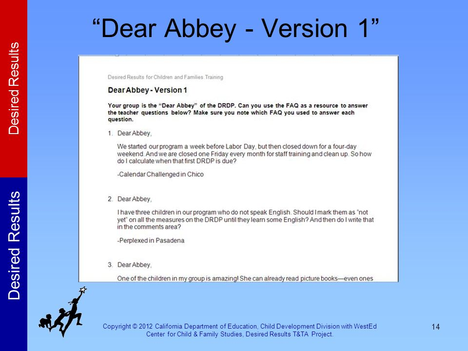 Dear Abbey - Version 1 Activity: Dear Abbey