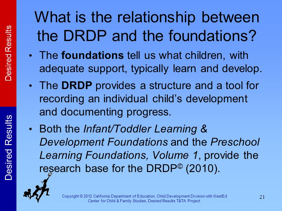 What is the relationship between the DRDP and the foundations