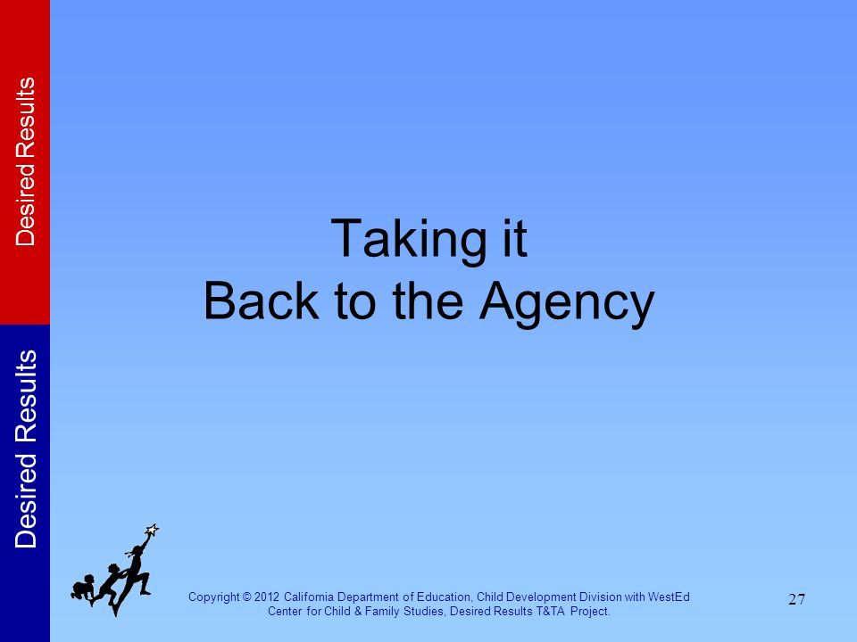 Taking it Back to the Agency
